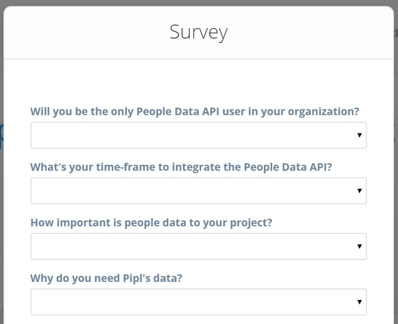 Pipl Survey