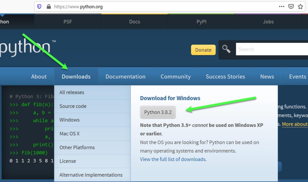 Python downloaden