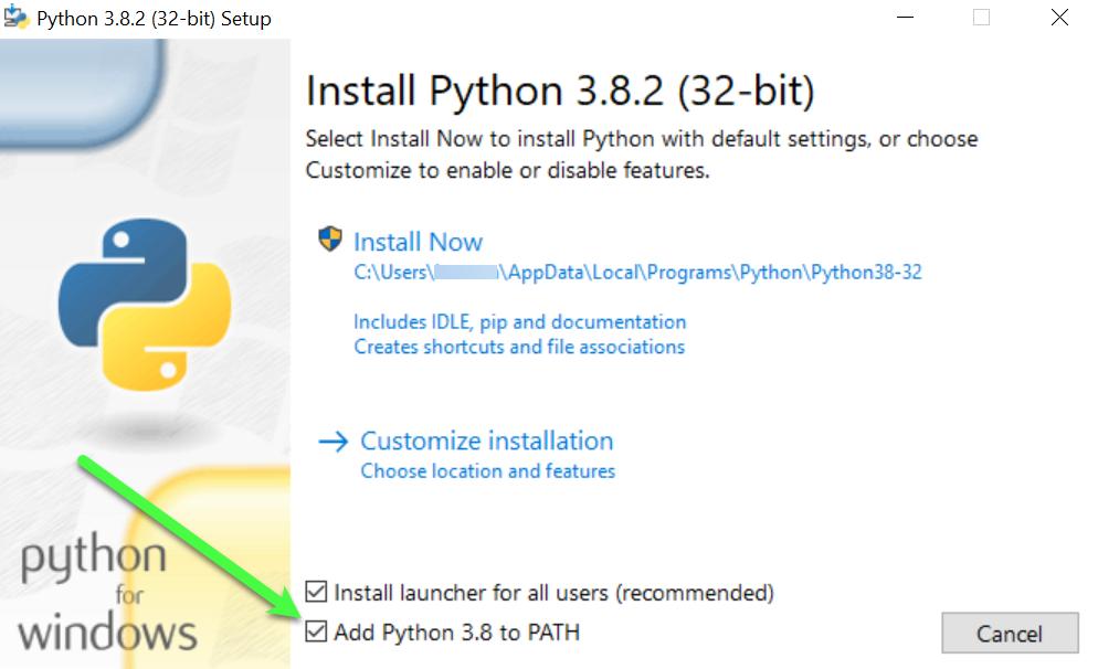 Python installeren