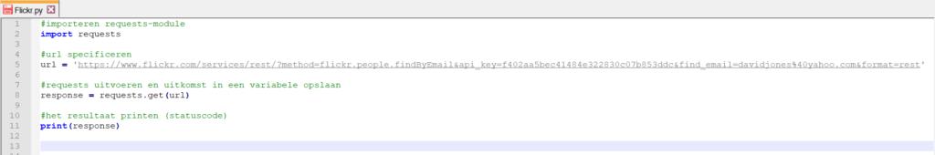 Python print variabele