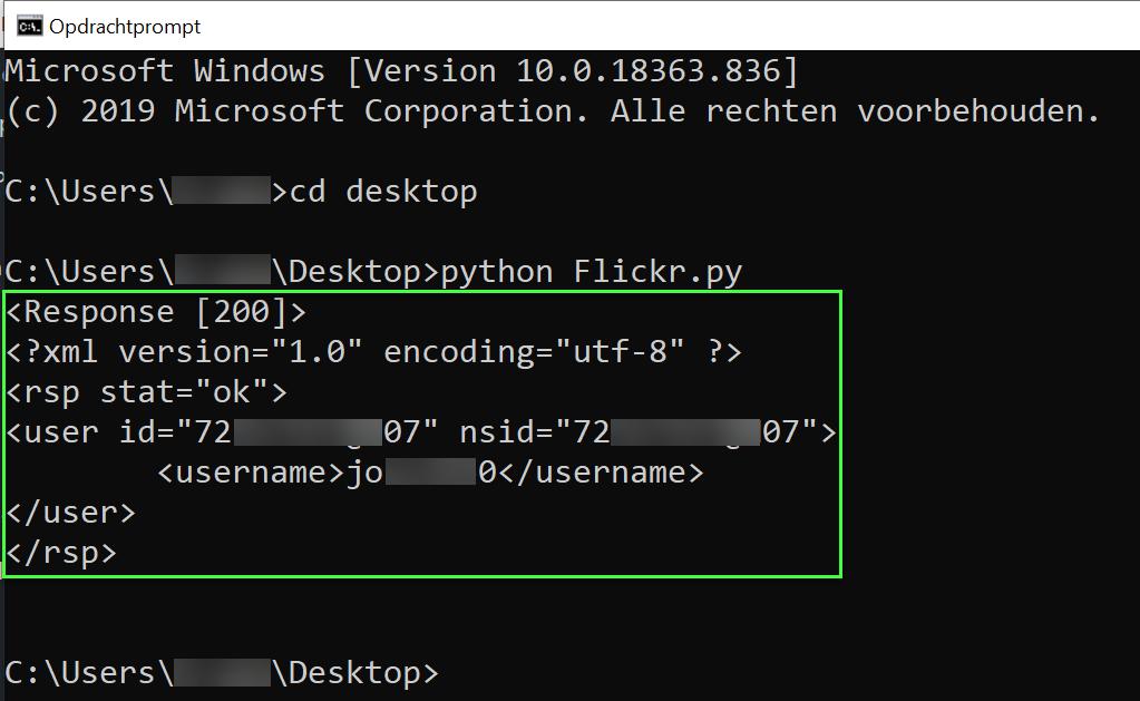 Python resultaat