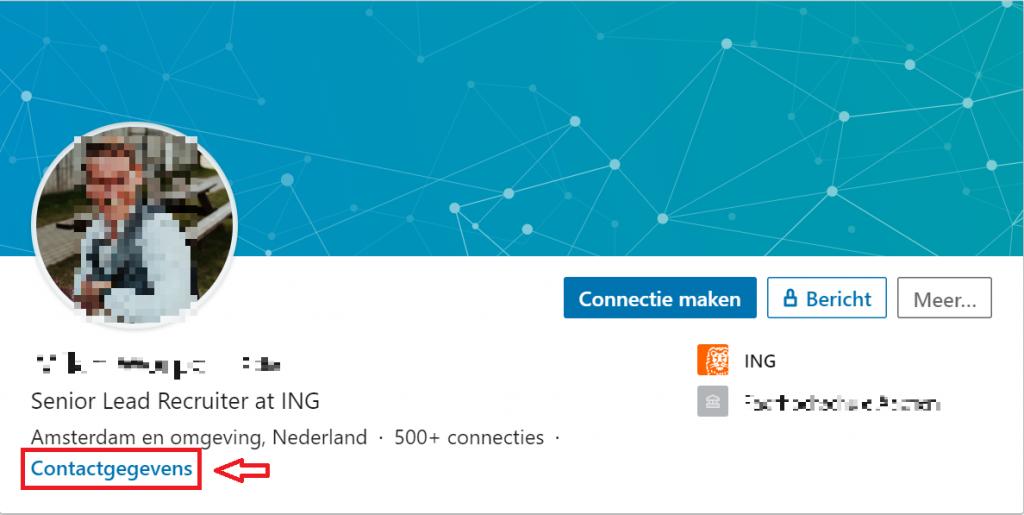 Recruiter ING Contactgegevens