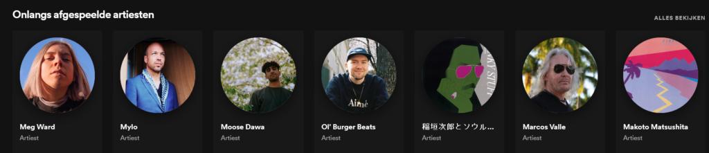 Spotify onlangs afgespeeld
