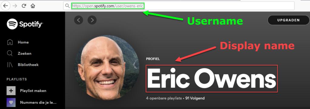 Spotify profiel gebruiker