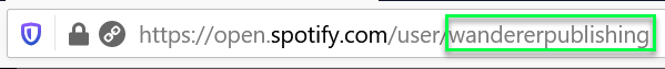 Spotify username