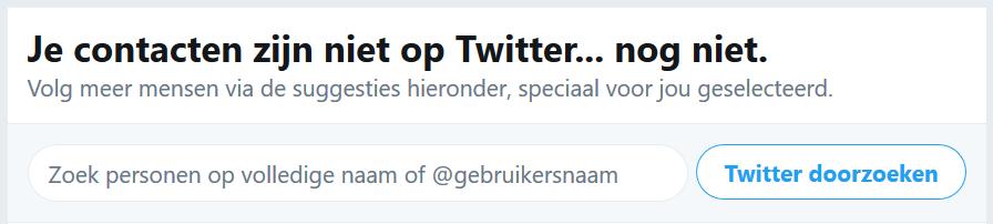 Twitter geen resultaten