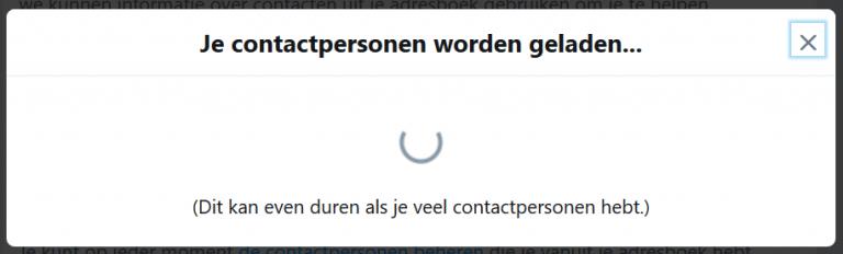 Twitter laadscherm
