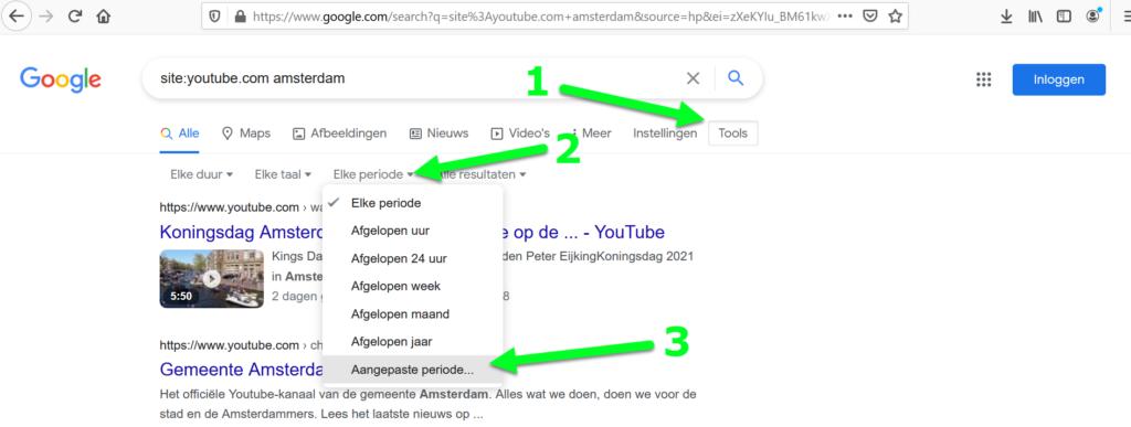 Youtube via Google op datum