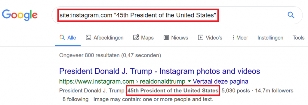 Search via Google