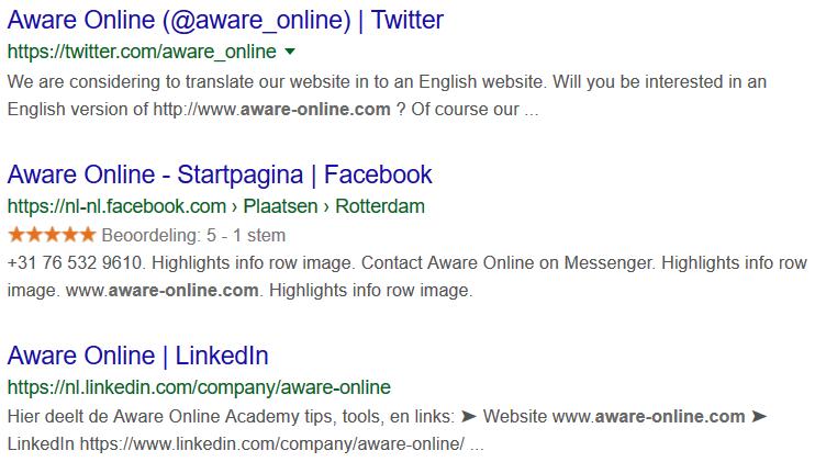 Links to a website
