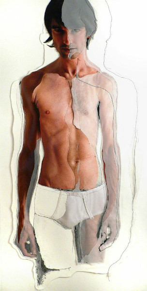 Germán Gómez - 'Dibujado III' 2007 - 200 x 110 (C-Print on paper and draw)
