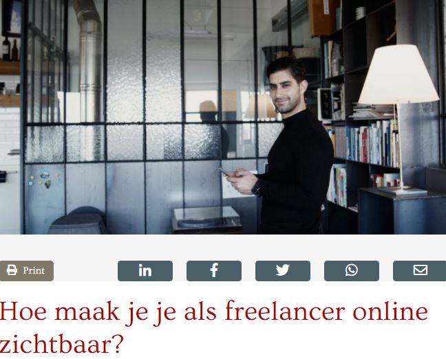 hoe maak je je als freelancer online zichtbaar