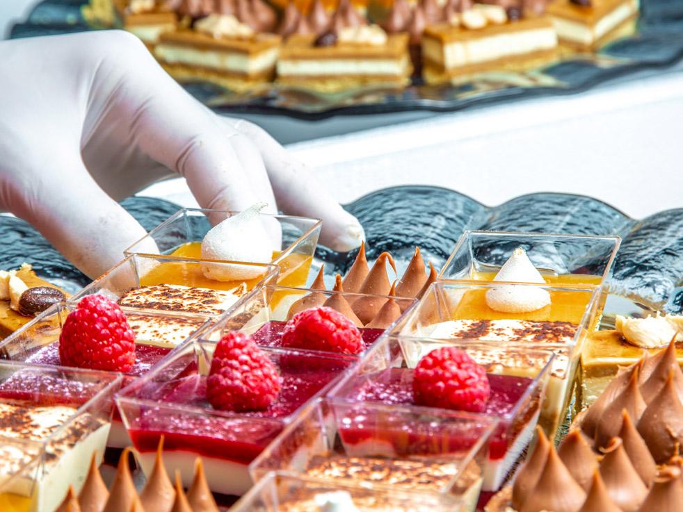 Photographe de pâtisserie de luxe