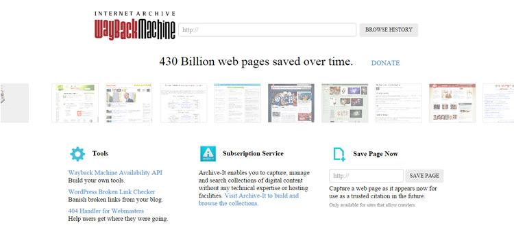 webshite-back-in-time