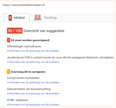 seo tooltip pagespeed