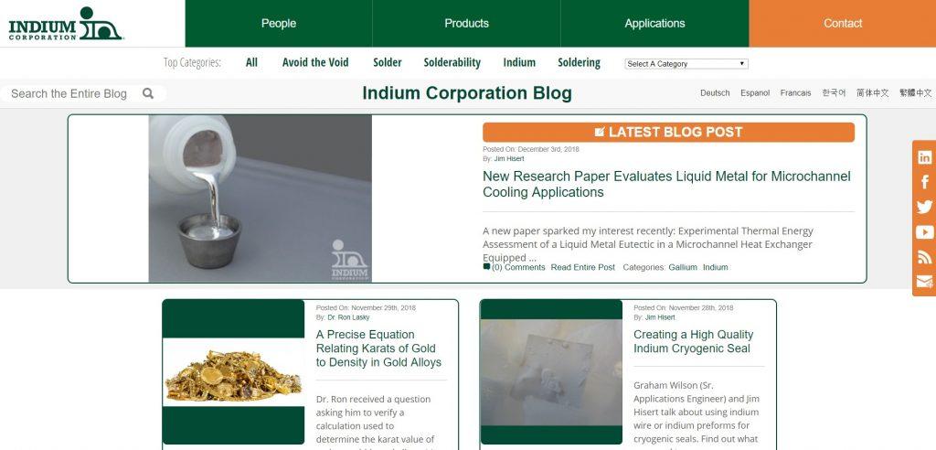 Indium b2b content Marketing voorbeeld
