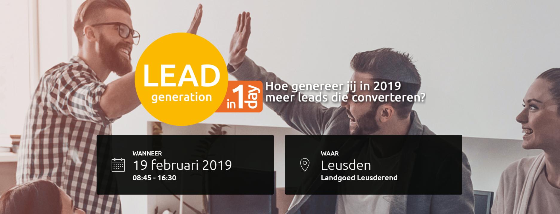 Leadgeneration in 1 Day 2019