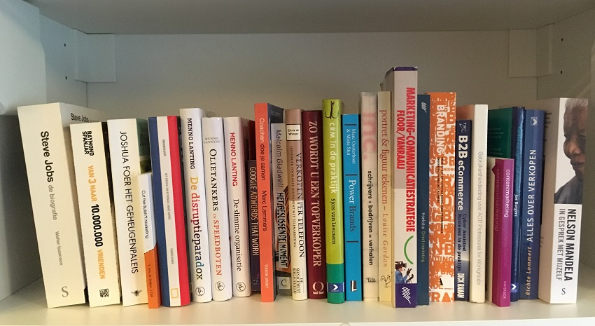 Marketing and business books bookcase