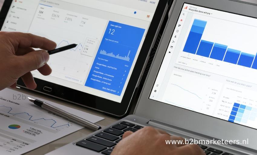 google analytics hoofdbeeld b2b