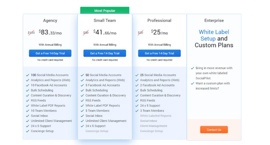 socialpilot review prijsplan