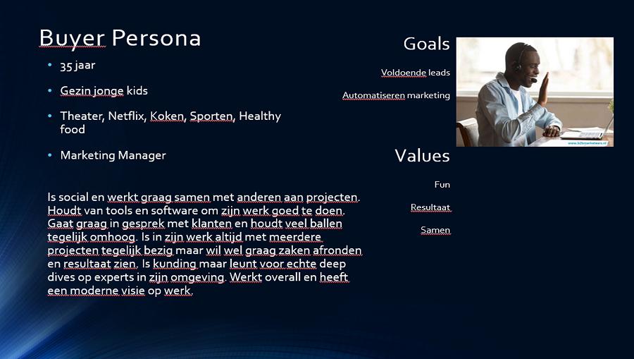 Buyer Persona sample template