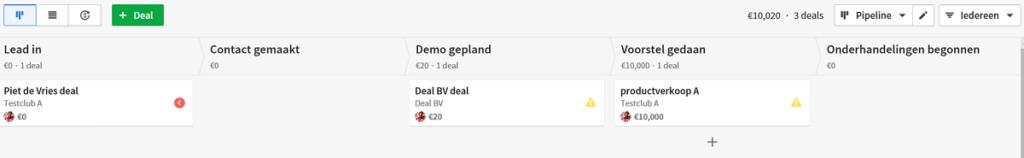 pipedrive screenshot verkoopkansen