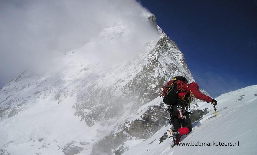 uitdaging bergbeklimming