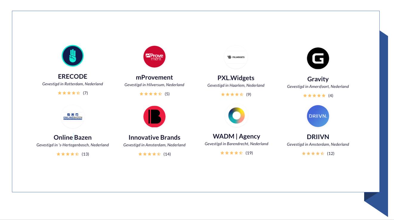 8 bureaus die uitstekend scoren en gespecialiseerd zijn in E-commerce
