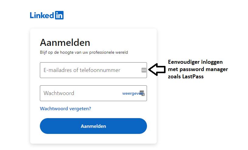 Eenvoudig inloggen LinkedIn