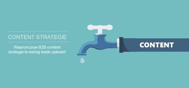 Waarom je B2B content strategie te weinig leads oplevert