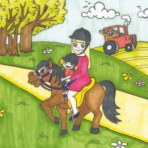 Traktor og hest