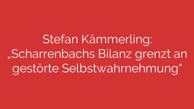 Stefan Kämmerling Scharrenbachs Bilanz grenzt an gestörte Selbstwahrnehmung