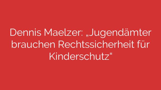 """Dennis Maelzer: """"Jugendämter brauchen Rechtssicherheit für Kinderschutz"""""""