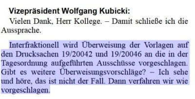 Plenarprotokoll Bundestag