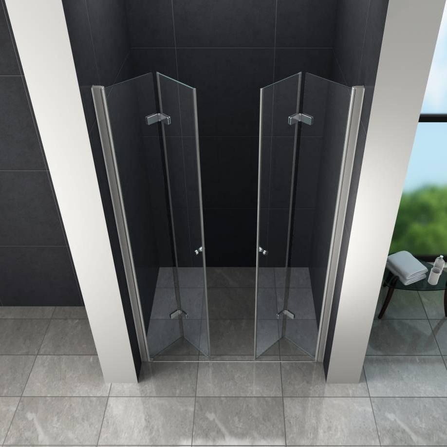 Accor vouwbare douchedeur nisdeur 120x195 cm helder glas