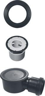 Aco Flexdrain puthuisset laag compleet, zwart