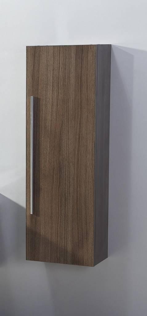 Aqua Royal Half Hoge Kolomkast 40X25X120 cm Zwart Weng© - Zwart Wenge