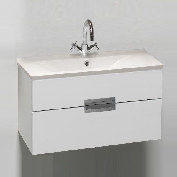 Badstuber Rave badkamermeubel 90cm hoogglans wit
