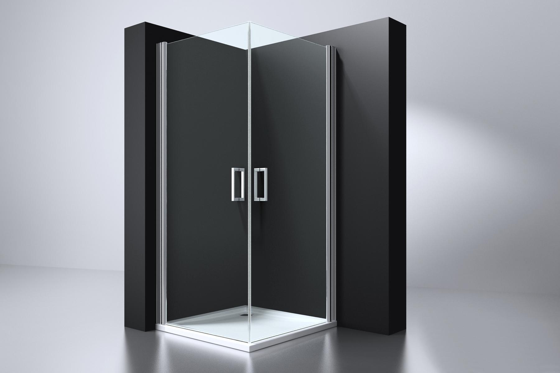 Best Design Arek vierkante cabine m.2 deuren 100x100cm ANTI-KALK