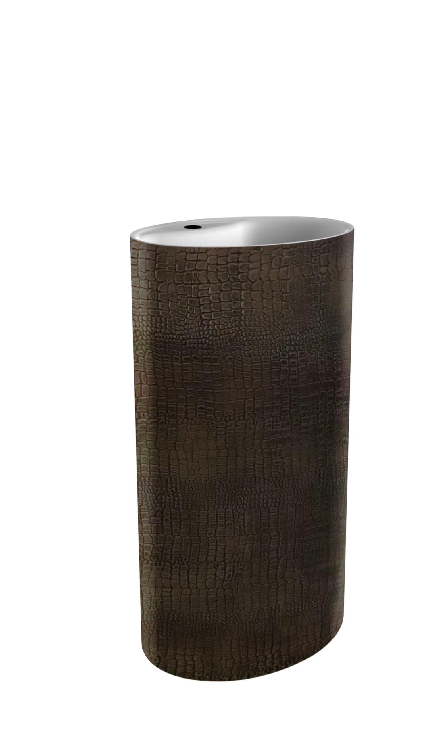 Best Design Croco vrijstaande wastafel met een kraangat 85 cm bruin