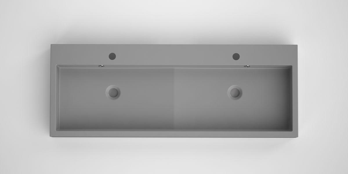 Bruynzeel Box dubbele opbouwwastafel composiet 120 x 45 cm, grijs