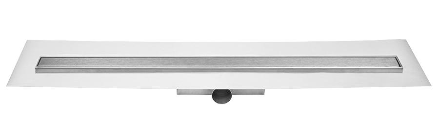 Easy Drain Compact FF Zero 50 afvoergoot 80x6 cm zijuitlaat, rvs