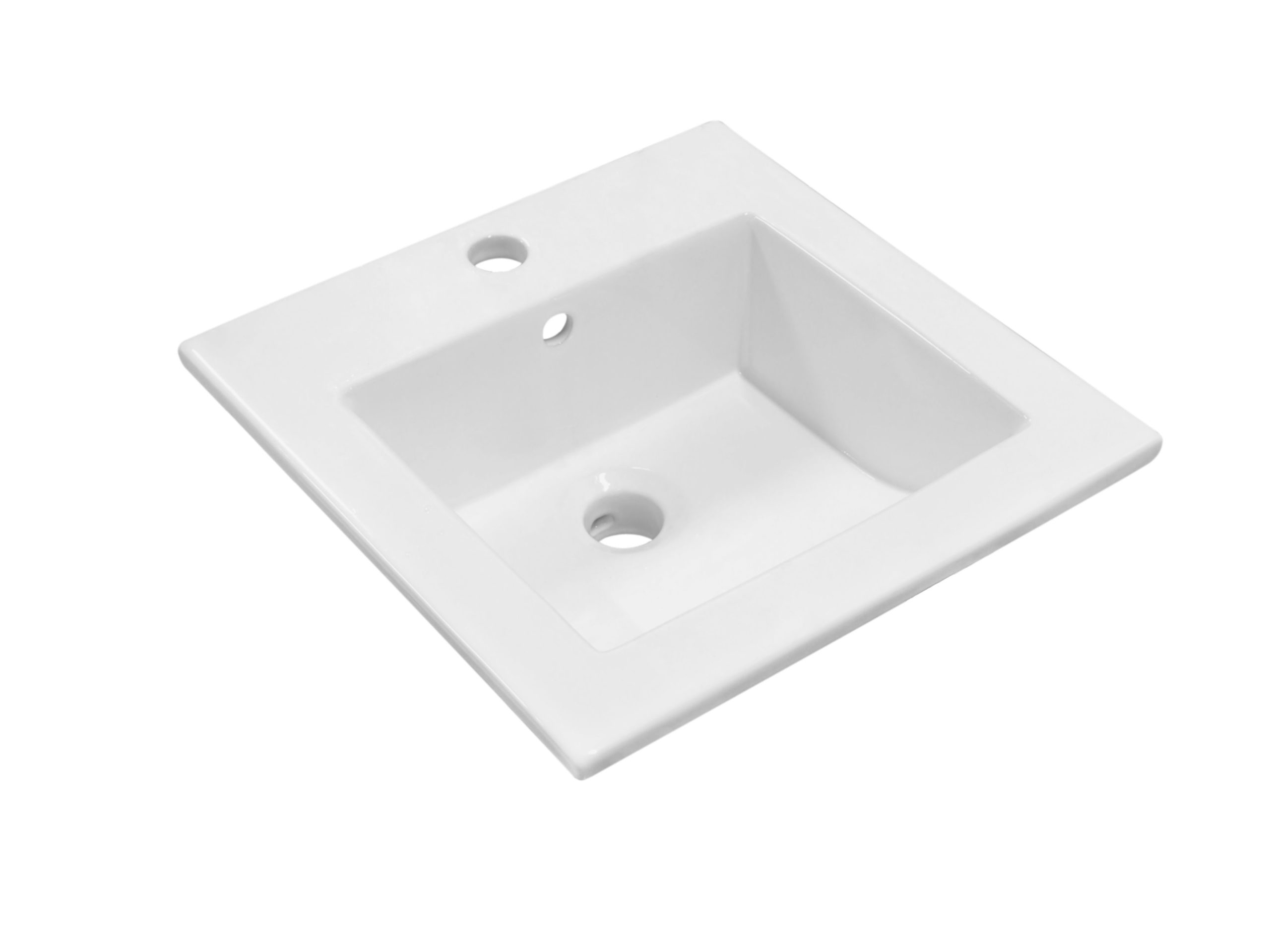 Kerra KR 41 inbouw wastafel 41,5x41,5cm wit