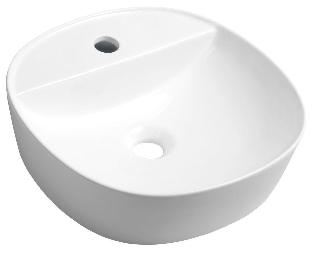 LUGANO Keramische opzet waskom diameter 41x11,5cm