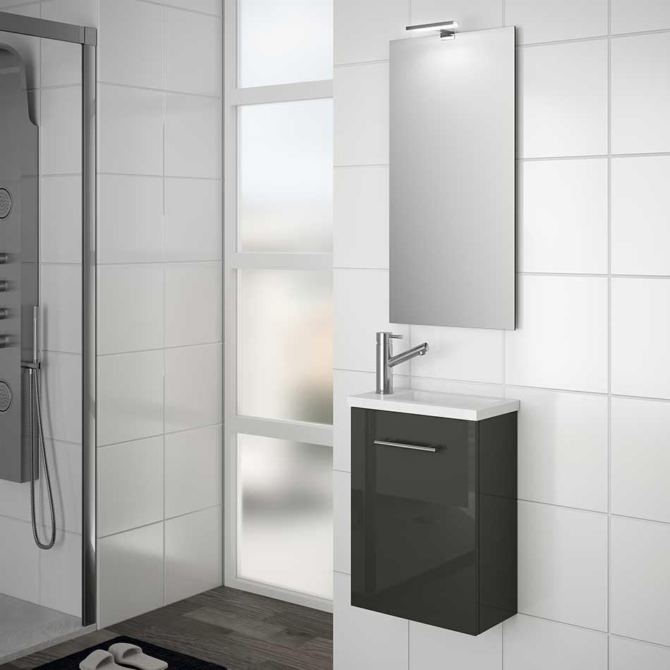Muebles Micro toiletmeubel hoogglans antraciet 40x22cm