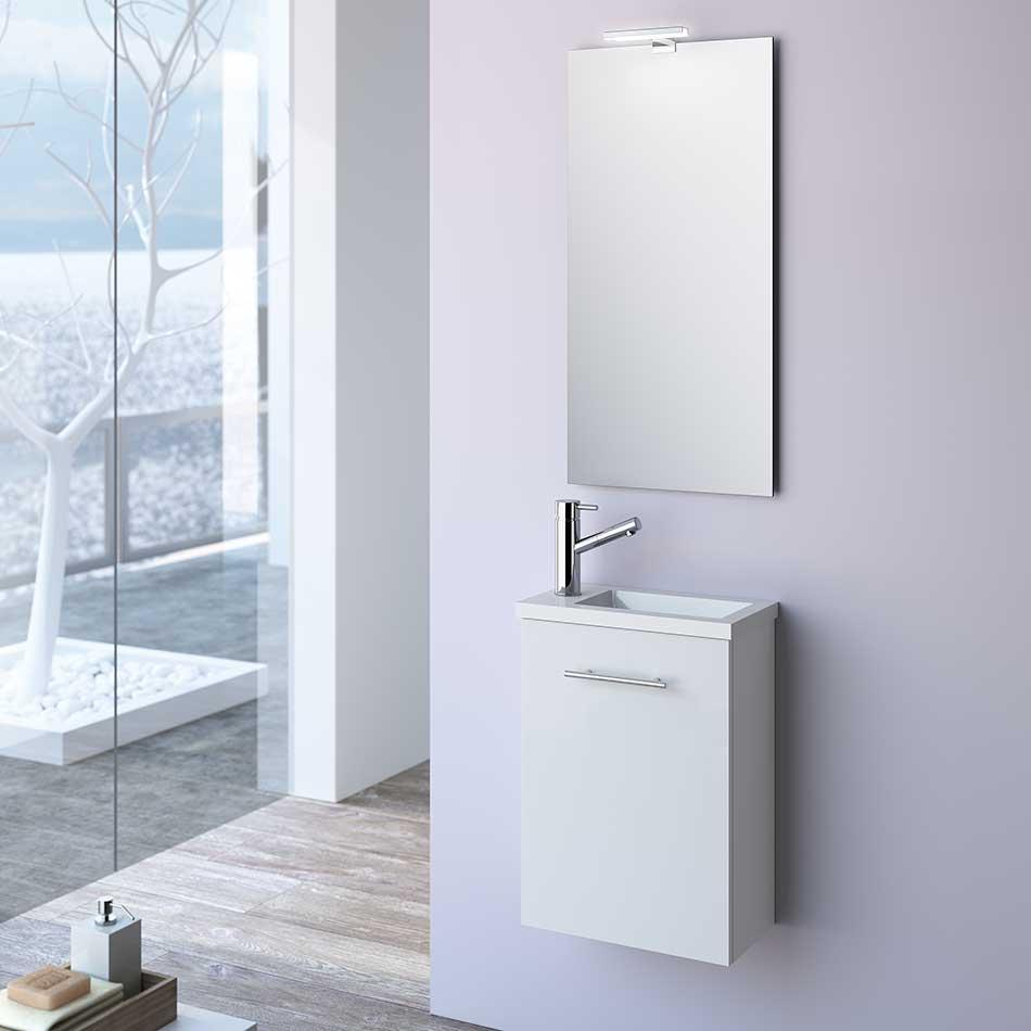 Muebles Micro toiletmeubel hoogglans wit 40x22cm