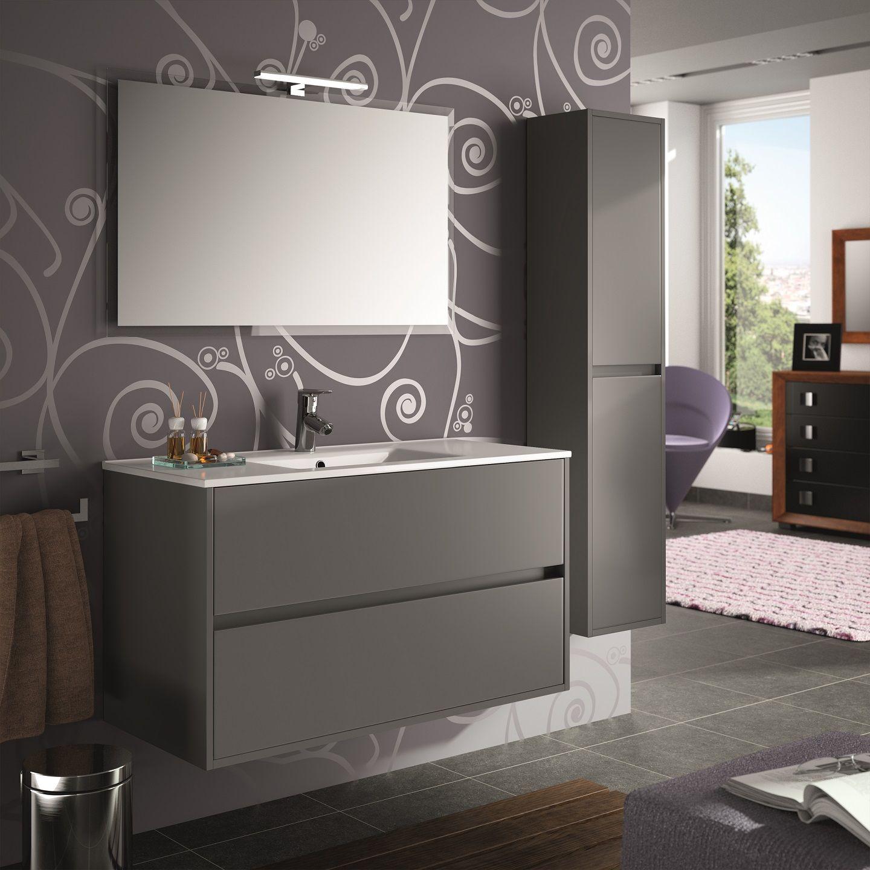 Muebles Project badkamermeubel mat grijs 100cm