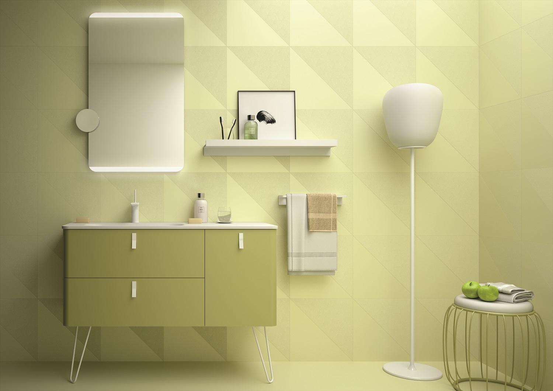 Muebles Unique badmeubel 90cm rechts verde groen met witte grepen