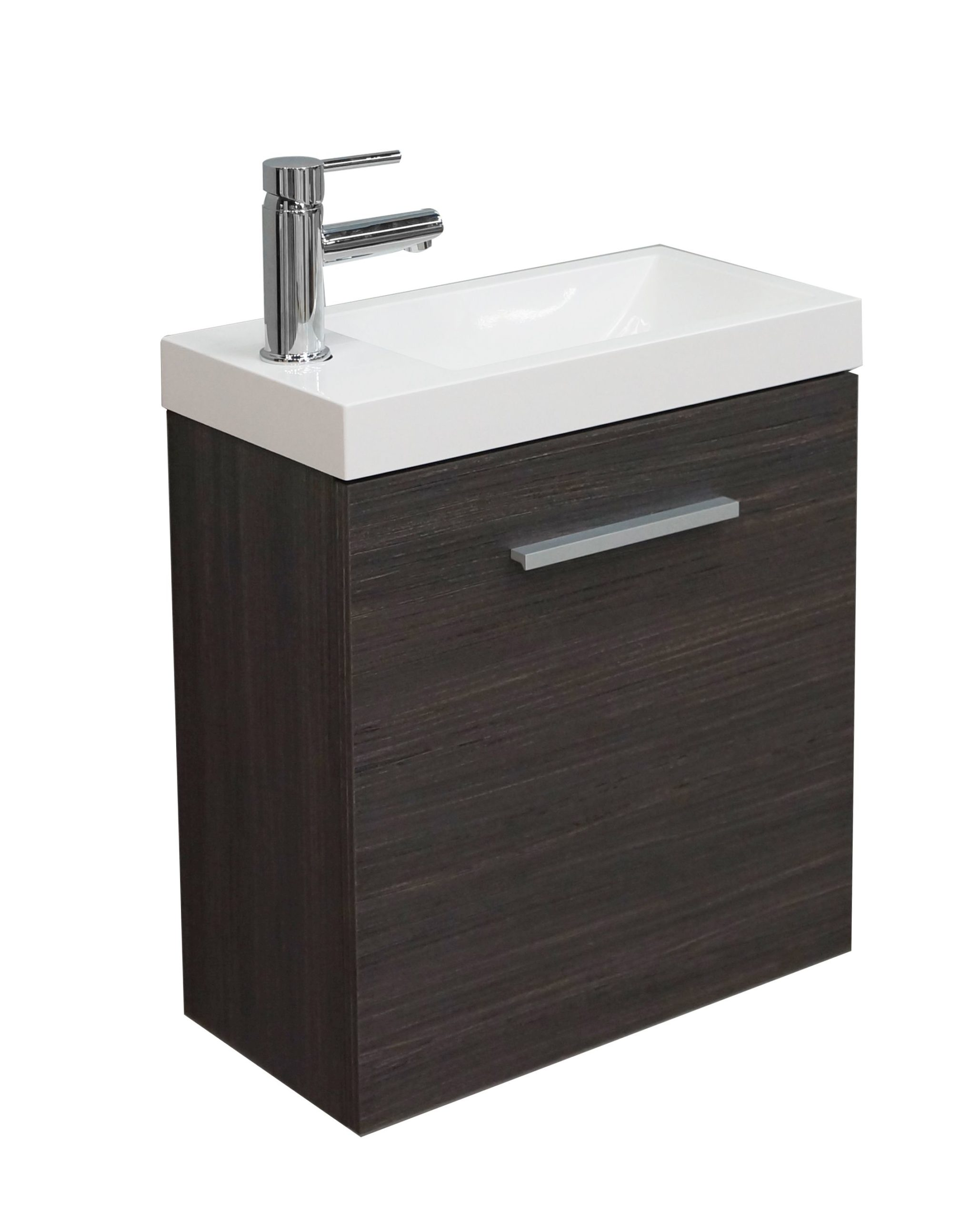 Mueller Emma toiletmeubel houtnerf grijs 50x25x50cm
