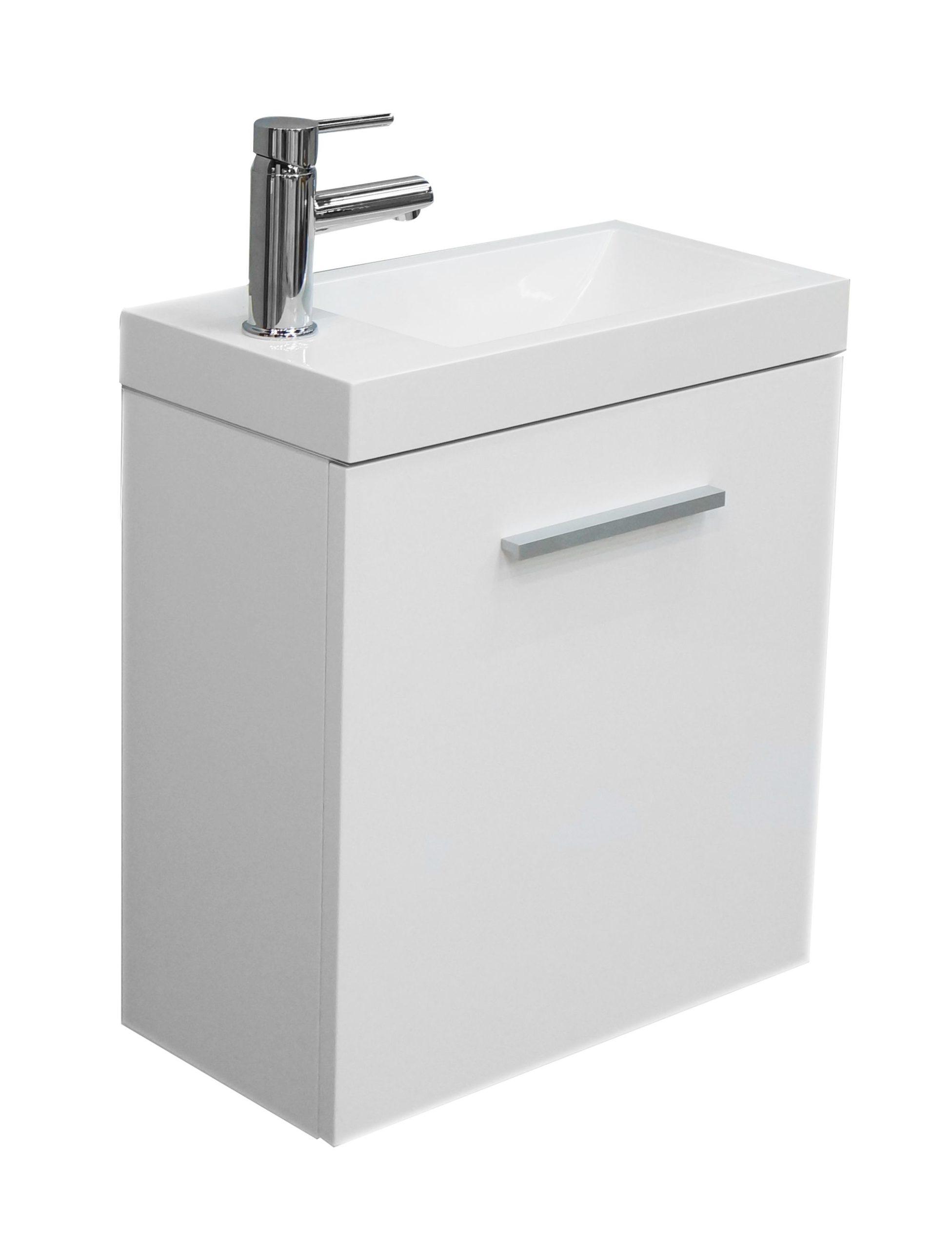 Mueller Emma toiletmeubel met kraan en sifon hoogglans wit 50x25x50cm